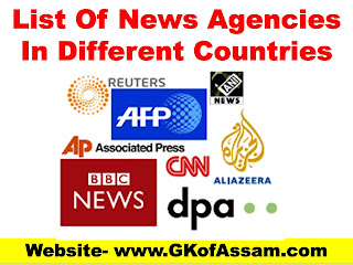 List Of News Agencies In Different Countries