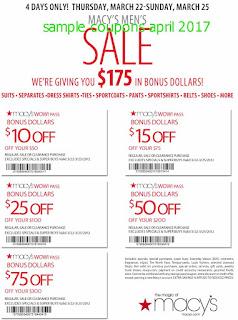 Macy's coupons april 2017