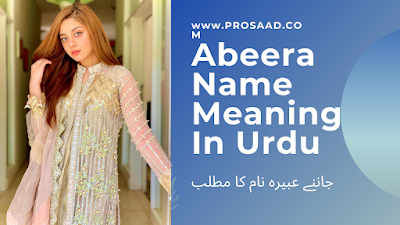 Abeera Name Meaning in Urdu & Abeera Name Other Spelling and Detail