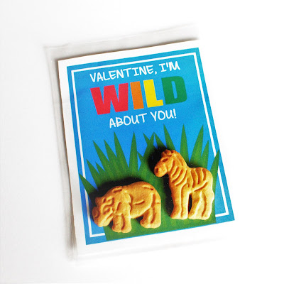 Wild About You printable Valentines