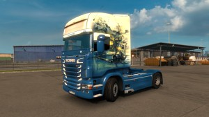 American Fighter Skin for Scania RJL
