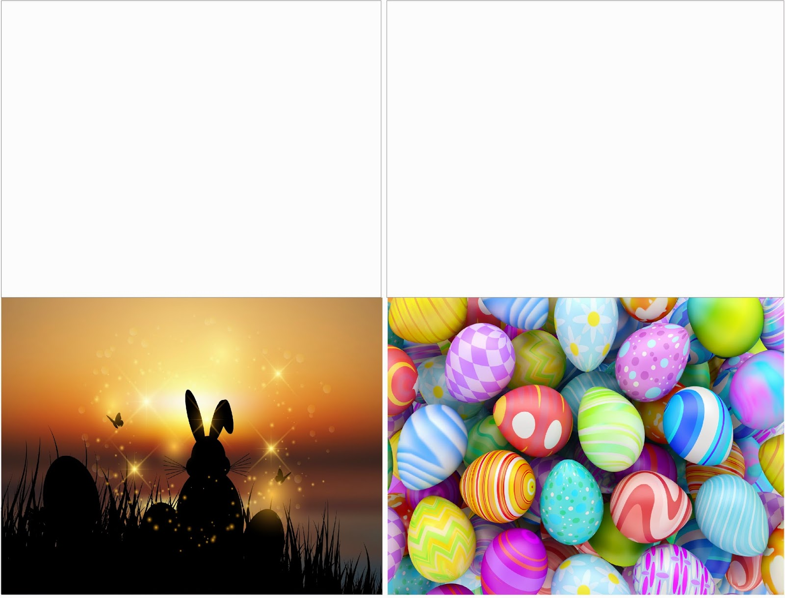 Let your loved ones know how much they mean to you this Easter with these beautiful and simple printable Easter Cards.  Cards are available in both religious and fun designs that will brighten anyones day with their beautiful fronts and lovely notes from you.