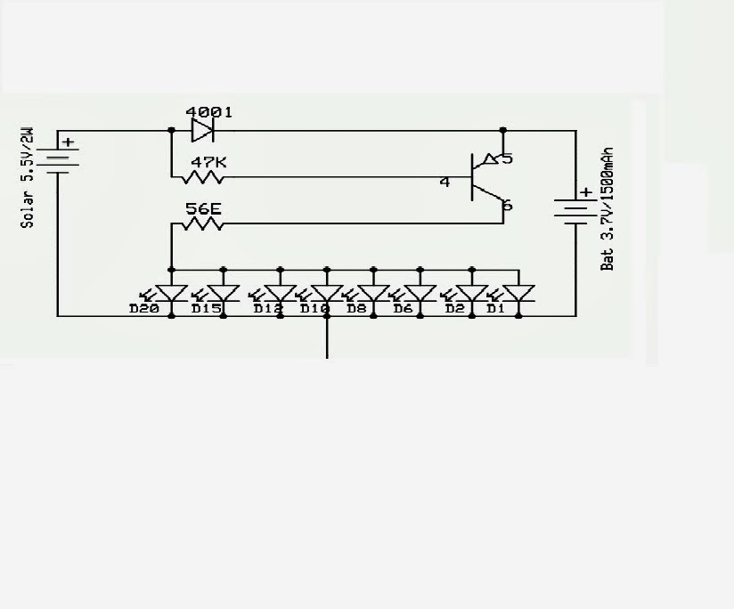 Education of Electronic: Solar garden lights circuit on