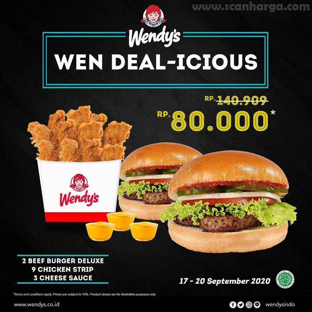 Promo WENDY'S DEAL Periode 17 - 20 September 2020
