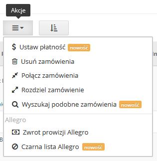 Baselinker Blog Czarna Lista Allegro Wyszukaj Podobne Ustaw Platnosc Nowe Operacje