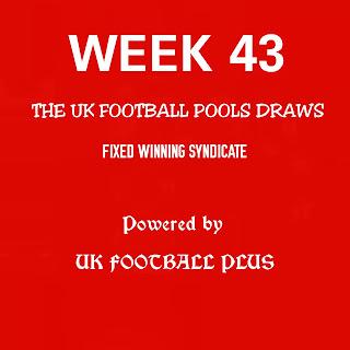 Week 43 UK football pools draws in coupon by ukfootballplus