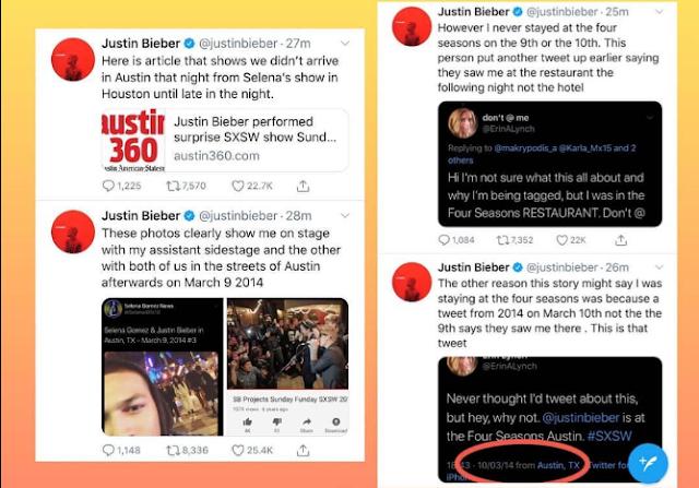 Justin Bieber's Tweets