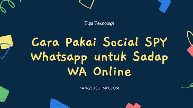 Cara Pakai Social SPY Whatsapp untuk Sadap WA Online