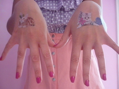 Perfect Cat Tattoos on Hand