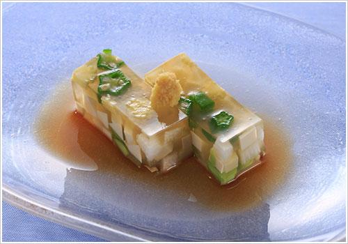 豆腐と夏野菜のゼリーよせ
