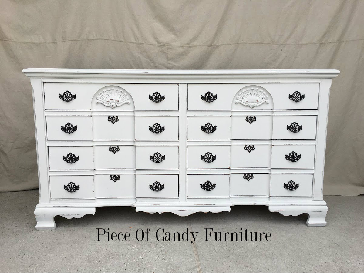 White Nightstand And Dresser: Piece Of Candy Furniture: Distressed White Dresser