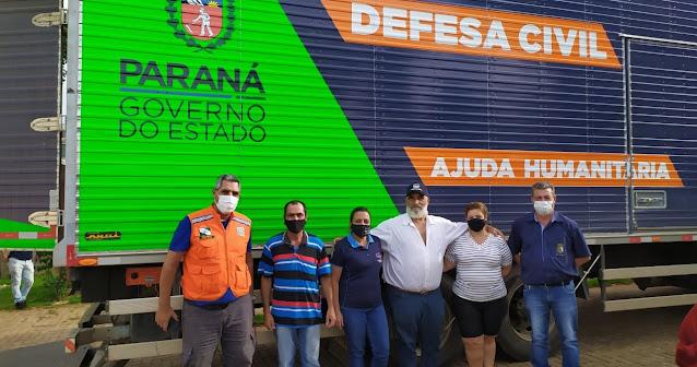 Ajuda humanitária da Defesa Civil é entregue para o Município de Iretama