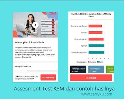 assesment test pada aplikasi belajar online QuBisa