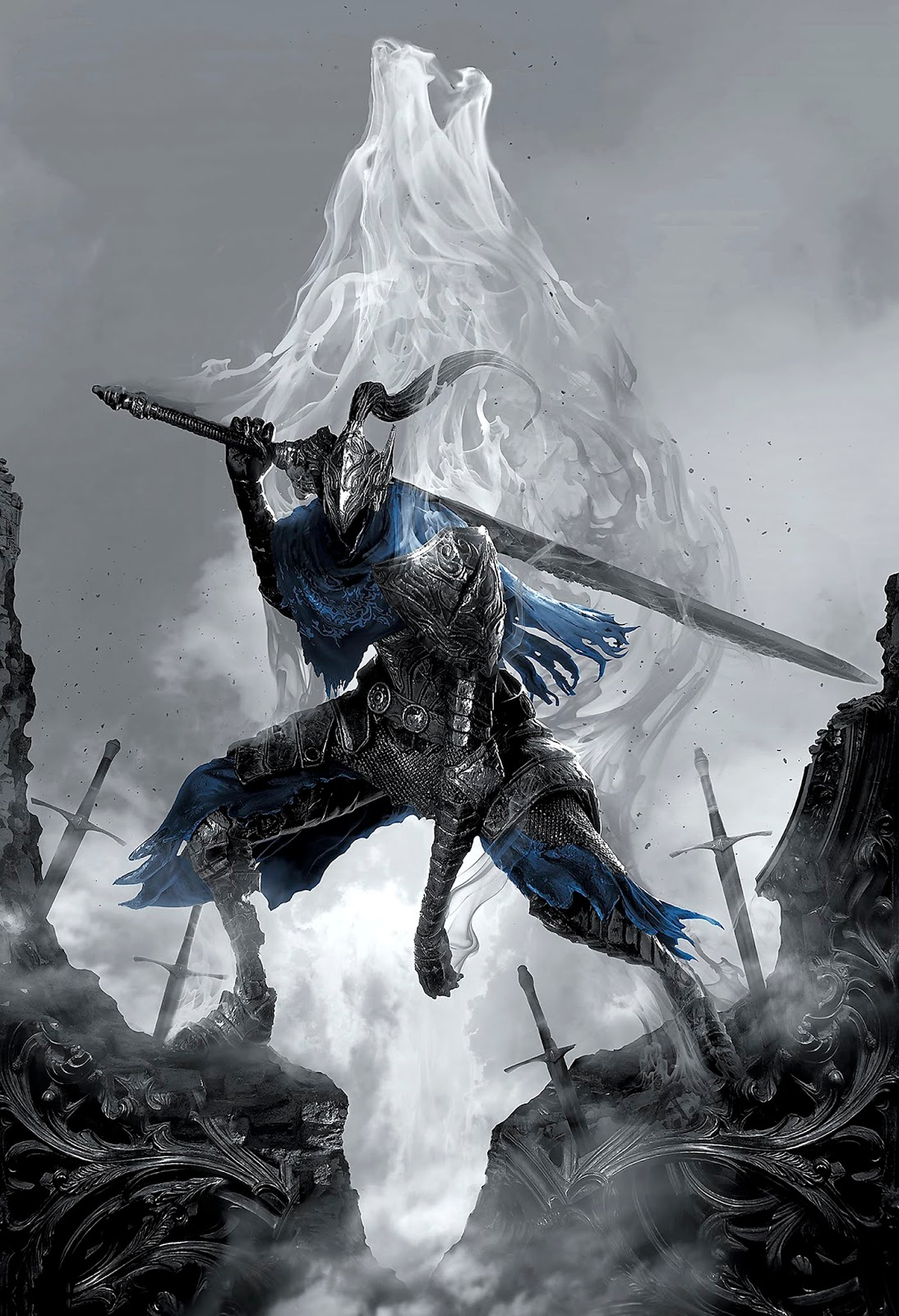 The Geeky Nerfherder: #CoolArt: 'Dark Souls: Artorias the
