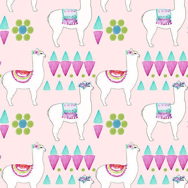 llama nursery pattern by Elise Engh