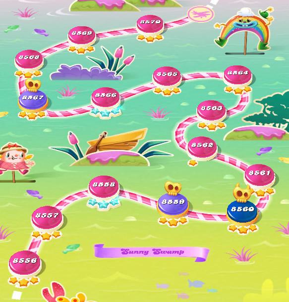 Candy Crush Saga level 8556-8570