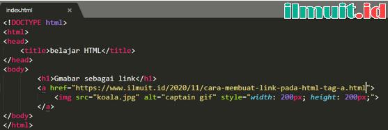 Gambar sebagai Link pada HTML
