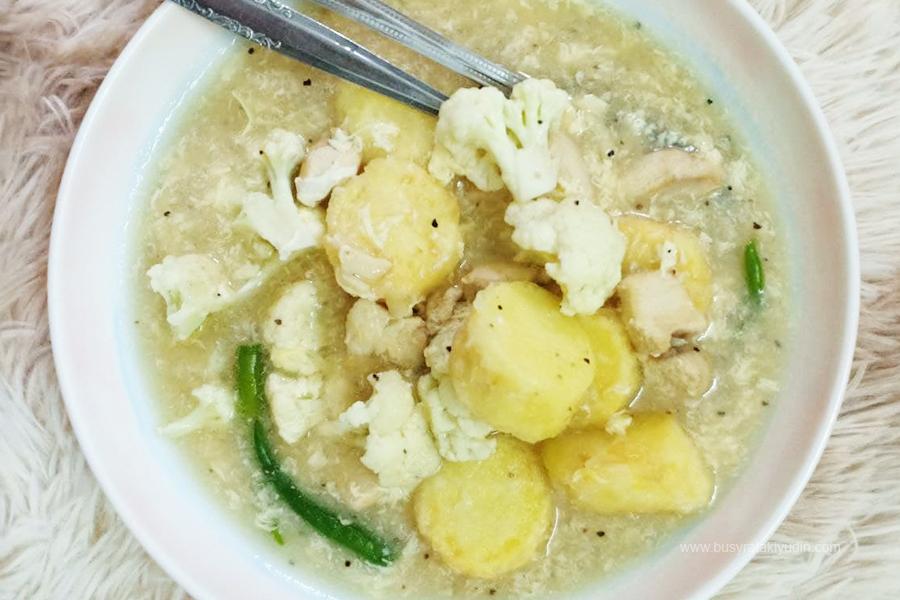 Resepi Sup Tauhu Telur, Tofu telur, Sup telur,