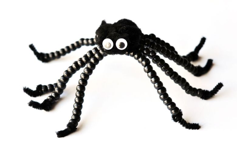 beaded spider craft