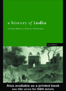A History of India PDF Books