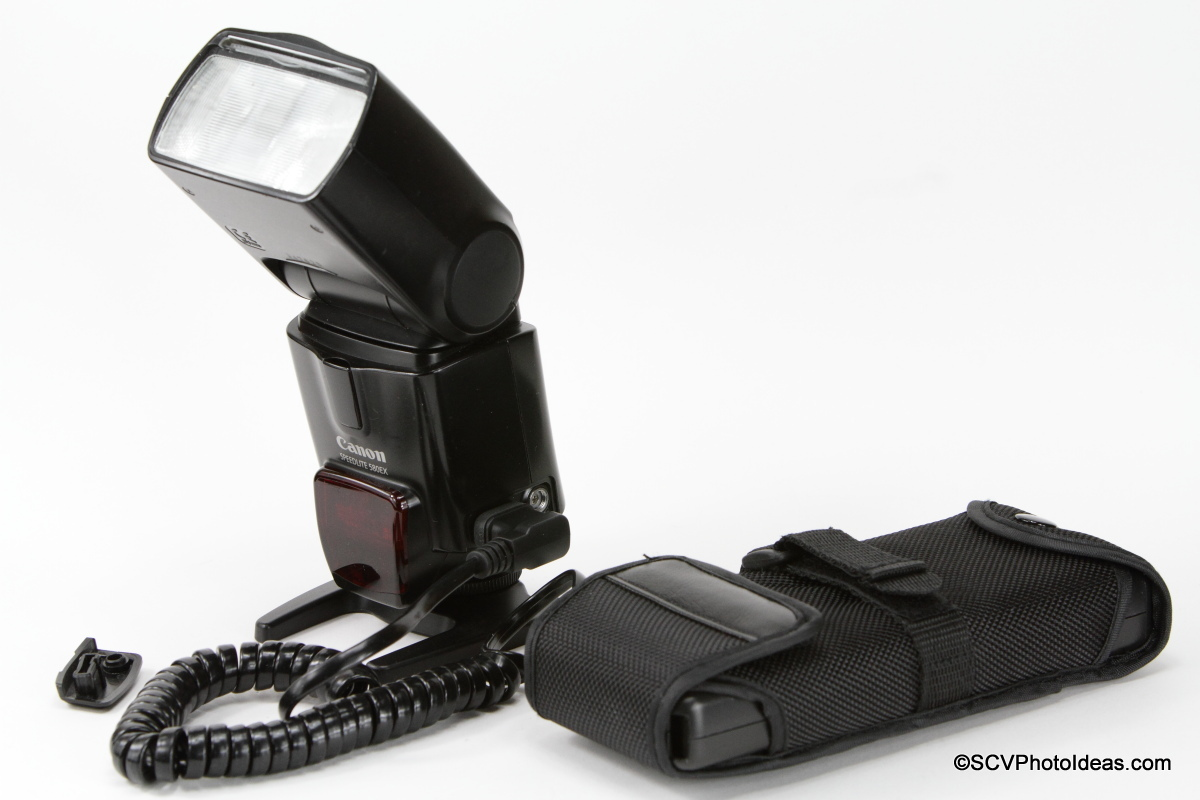 Canon Speedlite 580EX with external battery pack