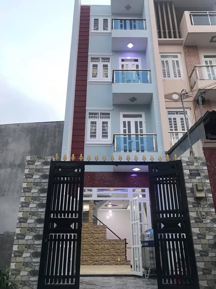 Bán nhà mới xây hẻm 840 Hương Lộ 2 phường Bình Trị Đông A quận Bình Tân. Dt 4x14m
