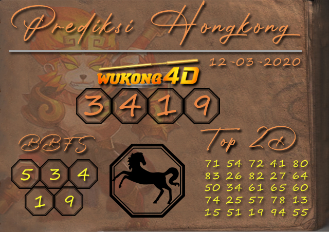 Prediksi Togel HONGKONG WUKONG4D 12 MARET2020