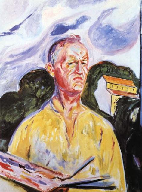 Эдвард Мунк - Автопортрет в Экели. 1926