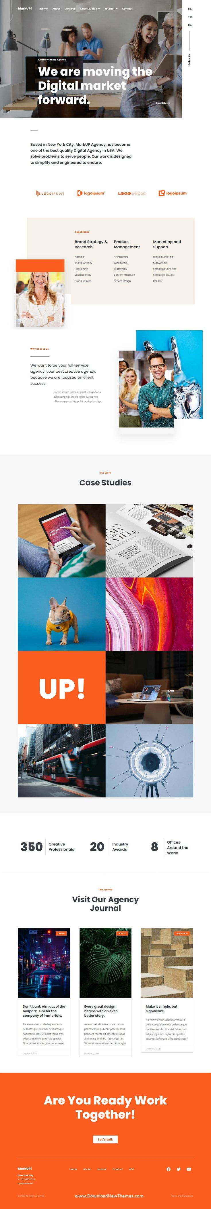 Corporate & Marketing Agency Elementor Template Kit