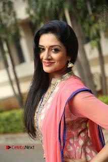 Actress Vimala Raman Stills in Beautiful Pink Salwar Kameez at (ONV) Om Namo Venkatesaya Press Meet  0102.JPG