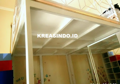 Mezzanine Besi pesanan Bpk Kahfi yang Kedua Di Cikunir Bekasi