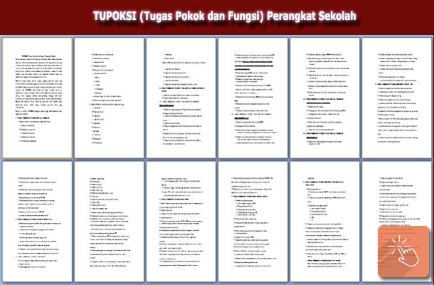 Download TUPOKSI (Tugas Pokok dan Fungsi) Perangkat Sekolah
