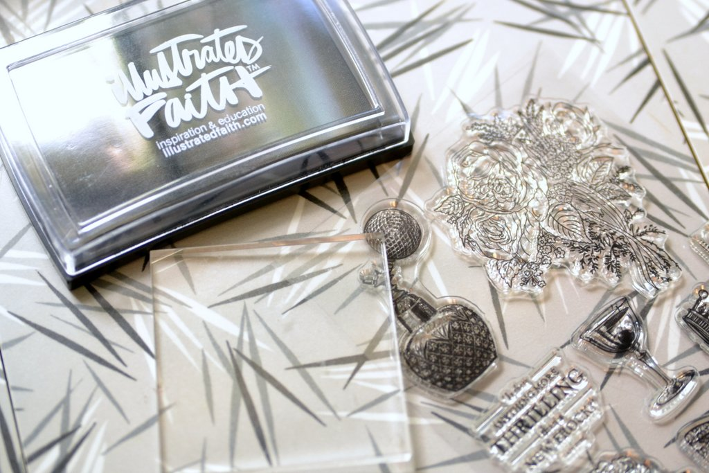 how to make ink stick to a clear stamp