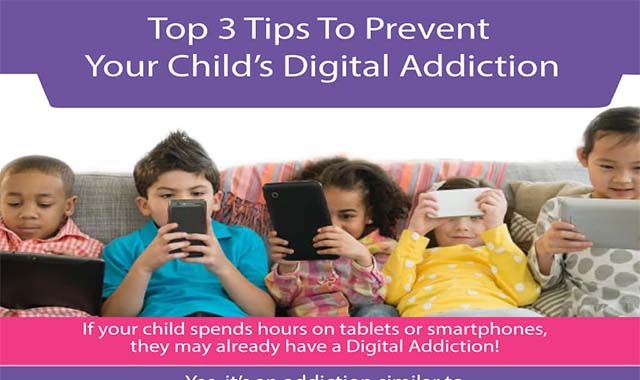 Top 3 Tips To Prevent Your Child's Digital #infographic