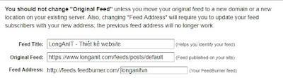 Hoàn chỉnh tạo  Feed cho blogspot