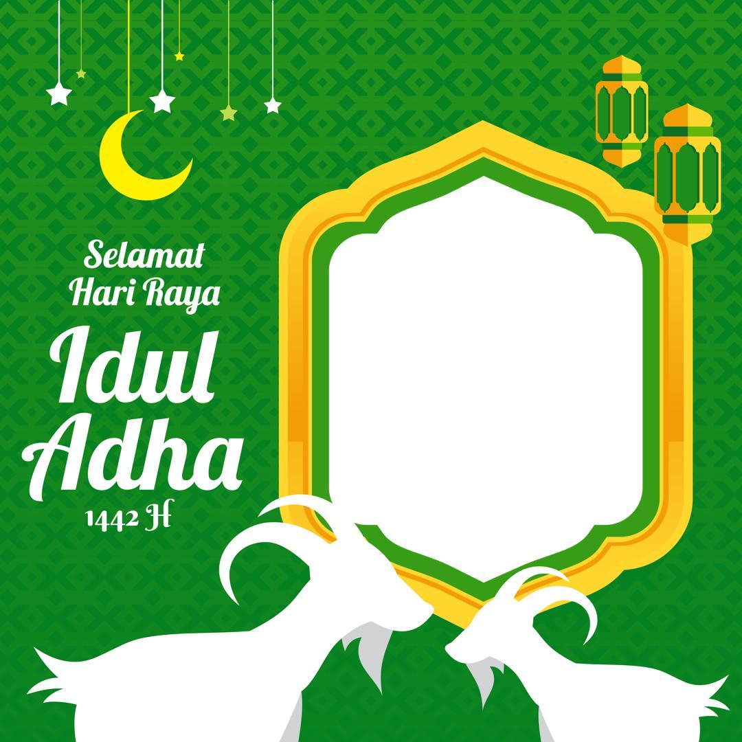 Template Background Frame Bingkai Foto Twibbon Lebaran Idul Adha 1442 Hijriah Tahun 2021
