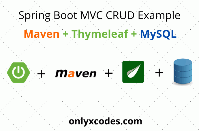 Spring Boot MVC CRUD Example With MySQL - Onlyxcodes