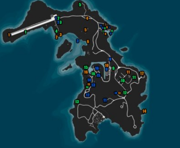 all 16 bolt cutters locations