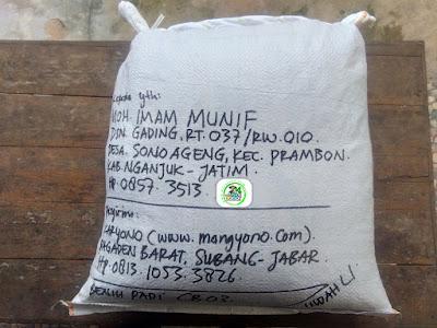 Benih Padi yang dibeli    MOH. IMAM MUNIF Nganjuk, Jatim.    (Setelah packing karung).