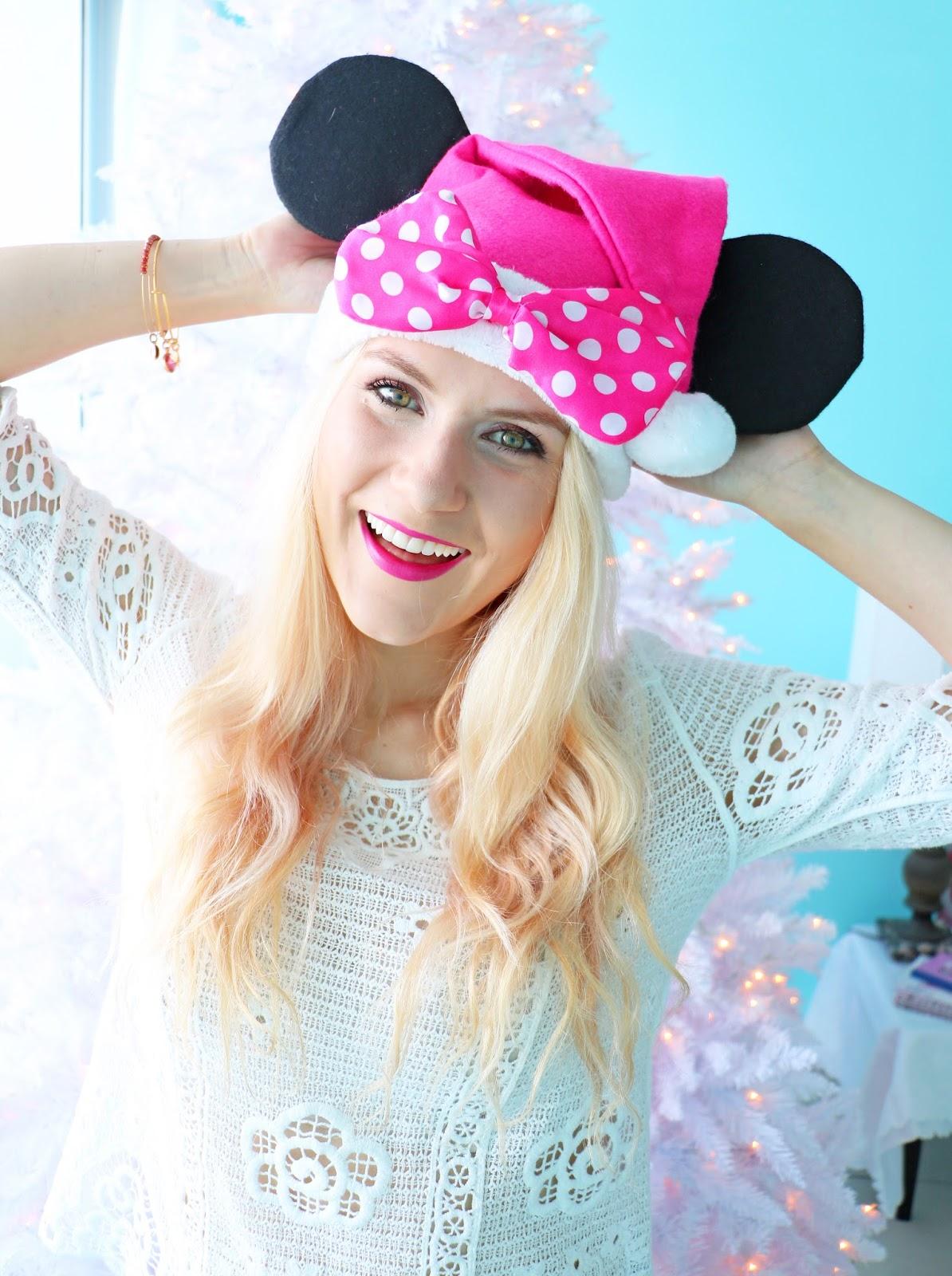 Cute Minnie Mouse Santa Hat