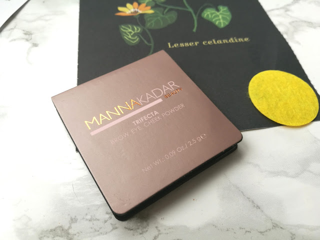 Manna Kadar Beauty Trifecta Brow Eye Cheek Powder