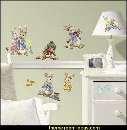 PETER RABBIT 27 BiG Wall Decals Nursery Bunny Baby Room Decor Stickers