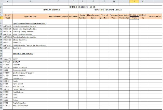Asset Register Format In Excel