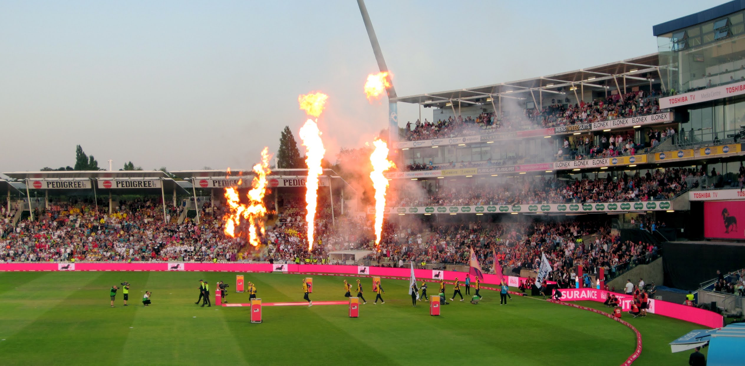 Essex Eagles players enter the field of play for the 2019 Vitality Blast Final