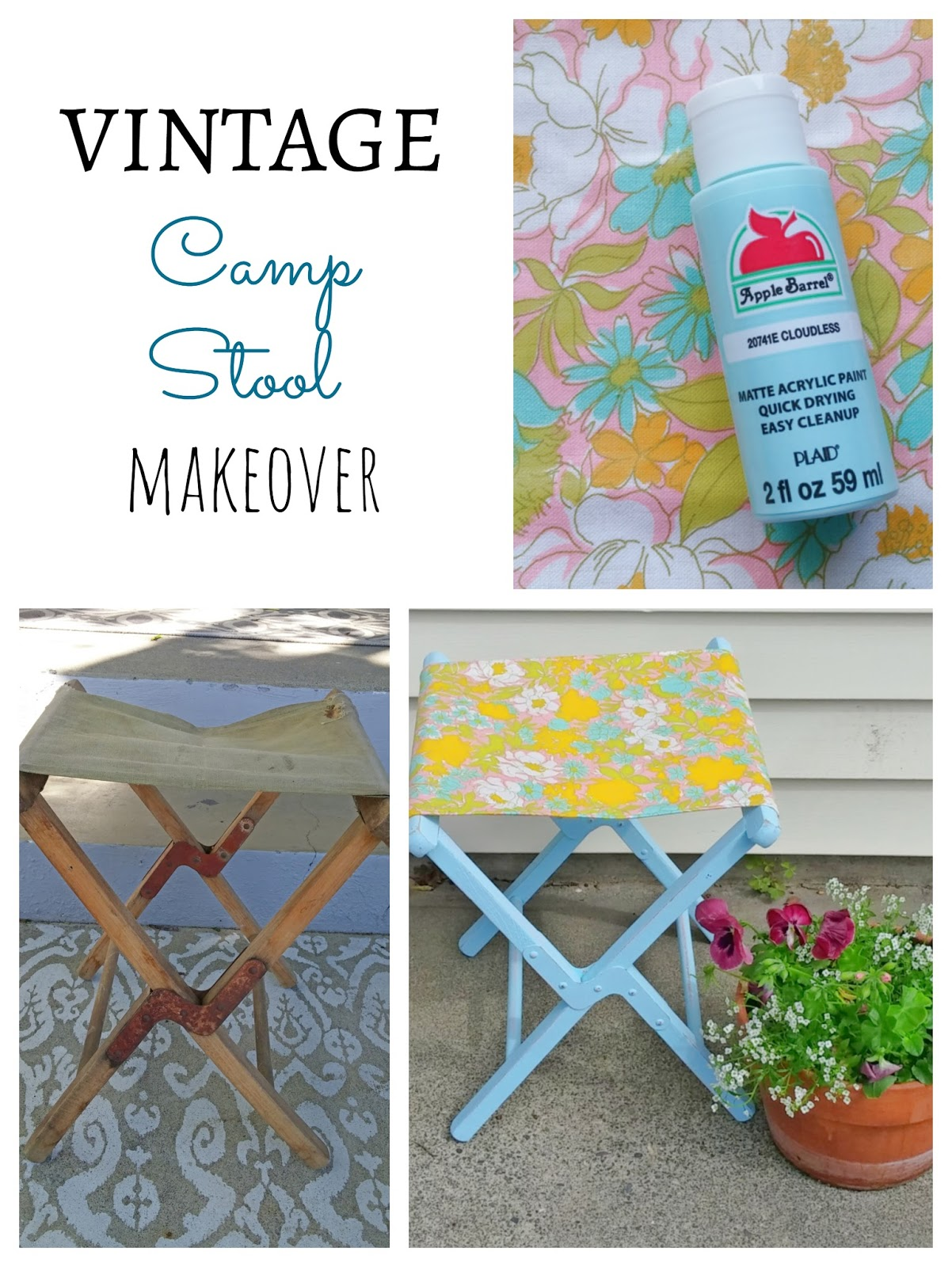 How to makeover a vintage camp stool