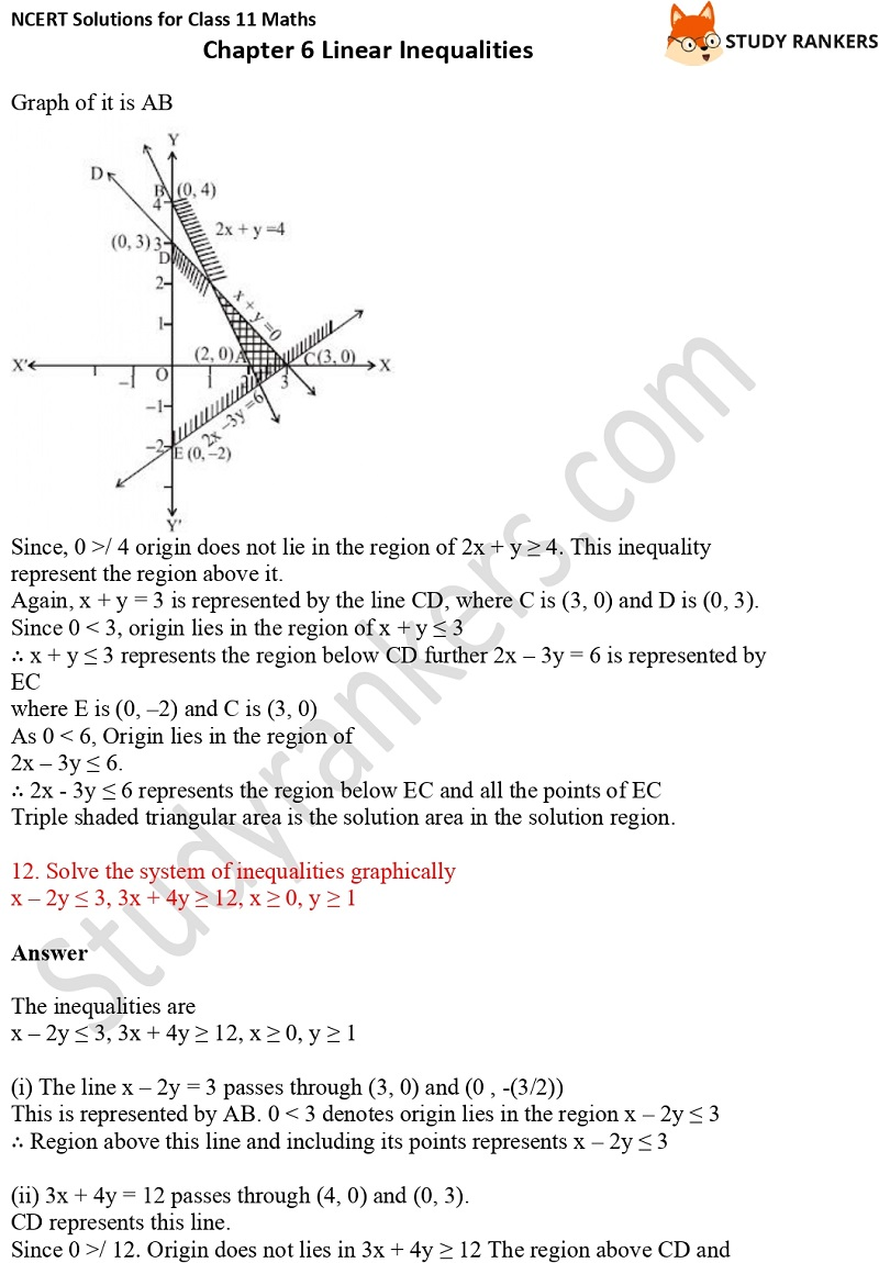 NCERT Solutions for Class 11 Maths Chapter 6 Linear Inequalities 27