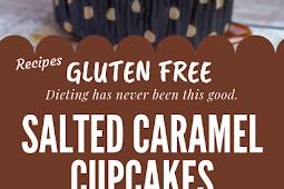 Gluten free Salted Caramel Cupcakes #glutenfree
