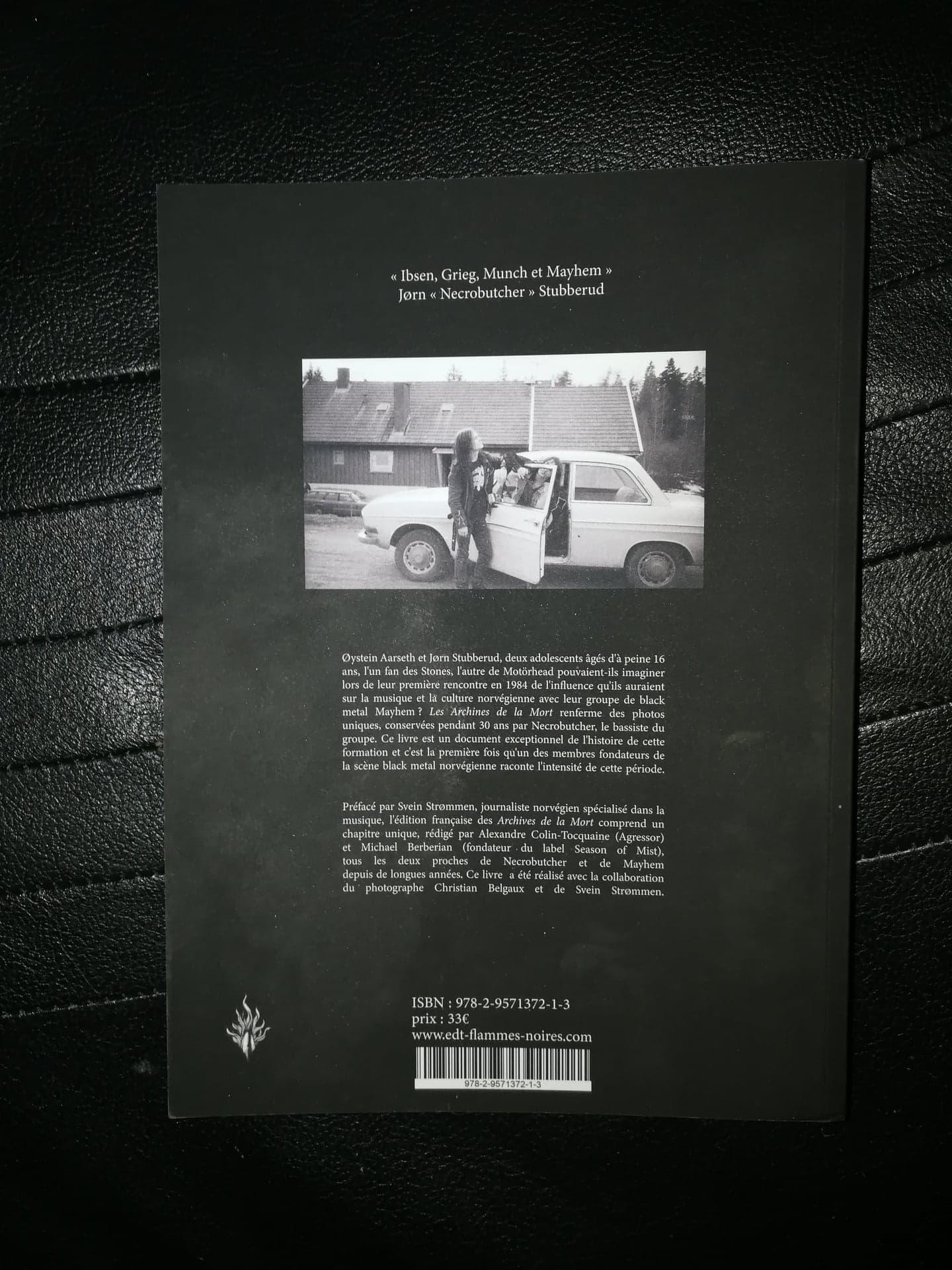 Mayhem 1984 - 1994 les archives de la mort