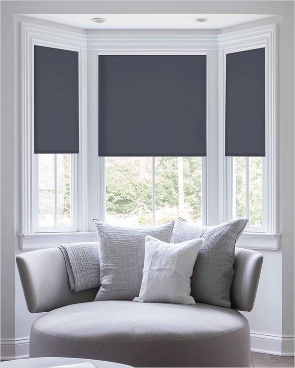 Bay Window Shades Home Interior Exterior Decor Design Ideas