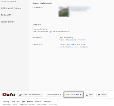 Cara blokir konten dewasa di youtube